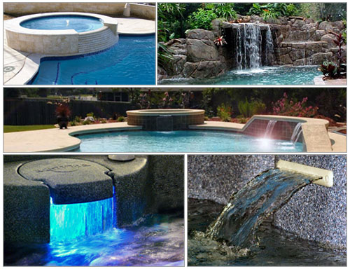 Waterfalls for salt pools and chlorine generators