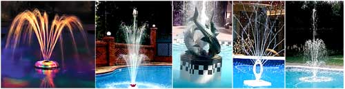 Chlorinator safe pool fountains