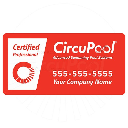 Magnetic Vehicle Sticker - Your Company Contact Info (Optional)